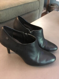 Women's Calvin Klein Leather Bootie Pump.