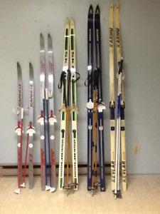 Skis + batons