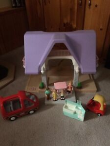 Little Tikes Doll House Accessories & Van Dollhouse