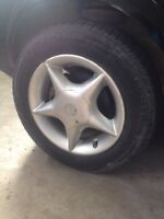 "4x100 14"" Alloy Rims with Tires"
