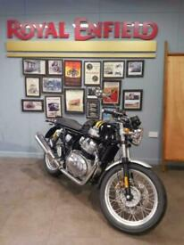 Royal Enfield Continental GT 650cc Black and Gold Motorbike