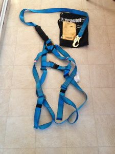 Full Body Safety Harness with 6' lanyard, aerial lift kit