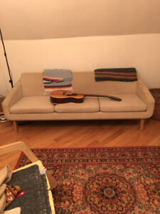Woven Mid-century Modern Couch