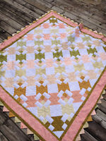 Pretty Prairie Point Quilt - Perfect for Christmas!