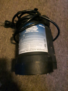 1/4hp submersible thermoplastic utility pump