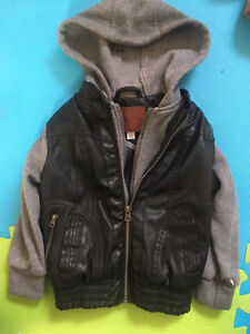 Beverly Hills Polo Club leather boys jacket 4 t hoodie kids