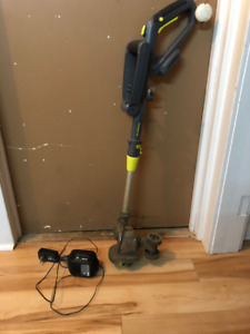 Yardworks 24V Cordless Grass Trimmer/Edger,