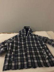 Like New! Boys Plaid Gap 6-12M Raincoat