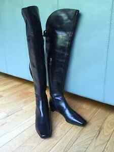 Sergio Rossi Over-The- Knee boots, size 10,5 US.