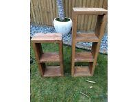Solid pine shelving units
