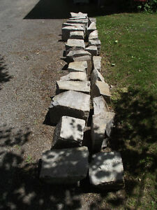 Limestone Blocks for Garden Edging or Water Feature