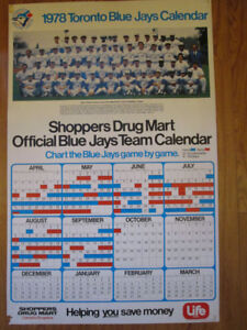 SET OF 5 BLUE JAY WALL CALENDARS - 1978-1982 SHOPPERS DRUG MART