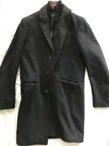 Banana Republic Black Wool Coat (Size Medium)
