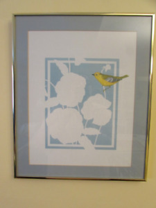 "Matching Framed ""Paper Cut"" Botanical Butterfly Art"