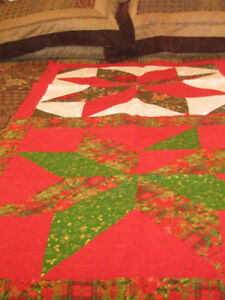 Quilts, runners, place mats, table tops, table cloths, pillows