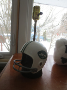 Vintage NFL New York Jets helmet lamp