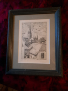 A.G. Stevens (1863-1925) signed artist proof engraving