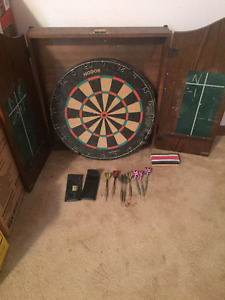 Professional Dart Board and Cabinet