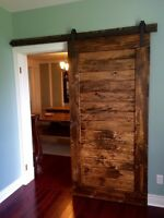 Live edge and barn board, doors harvest tables, trestle, desks