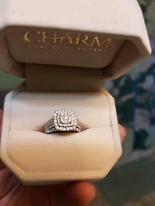 14kwg  dia wedding band + 10kwg engagement ring BRAND NEW! $1400