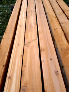 Super Premium Western Red Cedar 8x8, 6x6 & slabs up to 16'