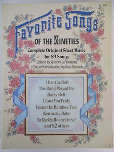 Favorite Songs of The 1890's Original Sheet Music