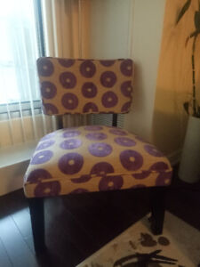 Printed Fabric Accent Chair