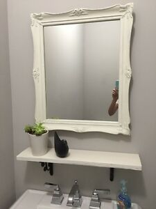 Mirror and shelve