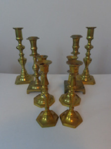 Assorted Vintage Brass Candles