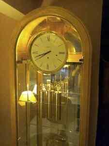 Huge Oak, Glass & Mirror Grandfather Clock London Ontario image 9
