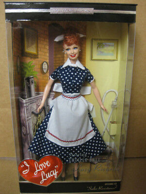 I Love Lucy Lucille Ball Barbie Doll  Sales Resistance  Tv Show Episode 45 Mint