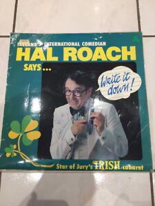 "Hal Roach SIGNED ""Write It Down"" Autographed Irish Comedy Record"