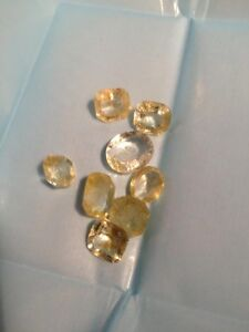 Yellow Sapphires Loose Parcel of 7 yellow Sapphires