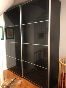 Large black & brown PAX Ikea Wardrobe