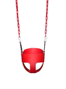 Swing Infant/Toddler Full Bucket Swing With Chain Heavy Duty NEW