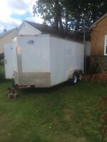 2008 16 foot v nose enclosed cargo trailer