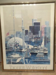 "Toronto Waterfront Framed Print 25""x31"""
