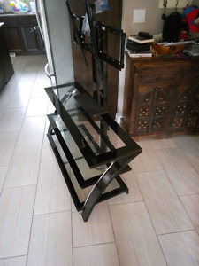 Glass tv stand 3 level.