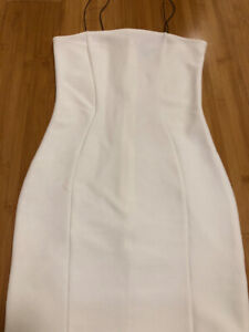 Topshop Womens Fitted White Dress - Size 34 (US 2)