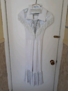 NICE IN WHITE - BATON TWIRLING COSTUME Size S