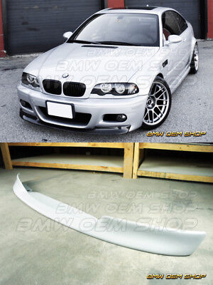 UNPAINTED PRIMED CSL II TYPE FRONT LIP SPOILER BMW 01-06 E46 M3 for sale  USA