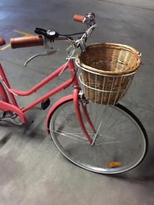 ladies pink vintage reid bicycle