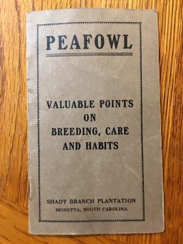 Vintage Brochure Shady Branch Plantation Peafowl Breeding Peacock South Carolina