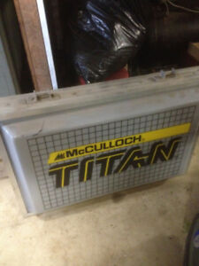 man cave hanging sign McCULLOCH TITAN