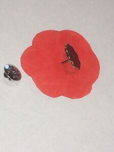 Remembrance Day November 11th Poppy Center Pins - 10 Pin Lot