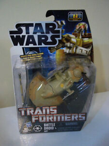 STAR WARS TRANS FORMERS BATTLE DROID AAT