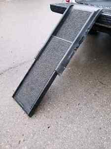 Adjustble dog ramp for truck van