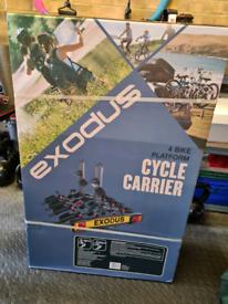 Exodus 4 bike tilting tow bar carrier