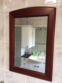 Mahogany Rectangular Bathroom Mirror