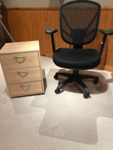 COMPUTER CHAIR & FILING CABINET